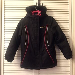 ZX 2in1 Girl warm winter jacket black and pink